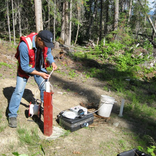 Ground water sampling as part of water quality monitoring program