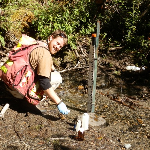 Water sampling as part of water quality monitoring program