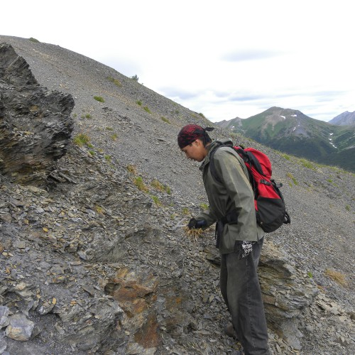 Prospecting on the Cirque East property